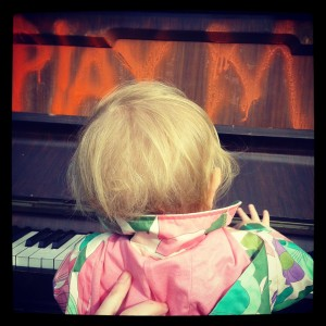 Celeste Playing Street Piano on Argyle Street Sheffield